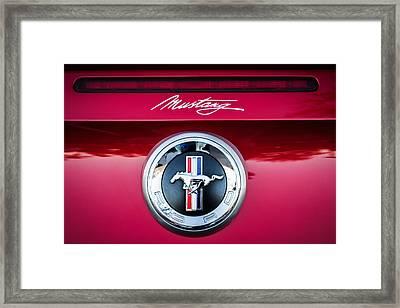 Ford Mustang Gas Cap Emblem -0002c Framed Print by Jill Reger