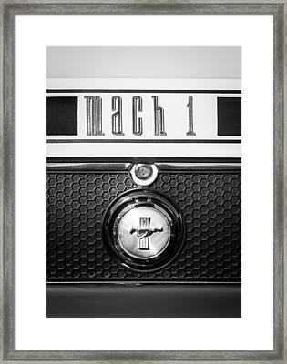 Ford Mustang Mach 1 Emblem Framed Print by Jill Reger