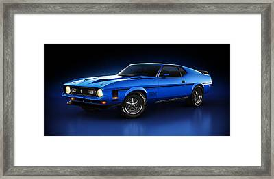 Ford Mustang Mach 1 - Slipstream Framed Print by Marc Orphanos