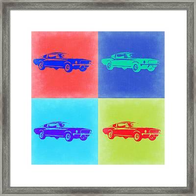 Ford Mustang Pop Art 2 Framed Print by Naxart Studio