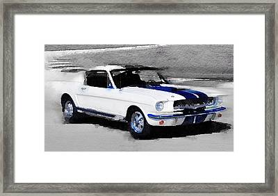 Ford Mustang Shelby Watercolor Framed Print by Naxart Studio