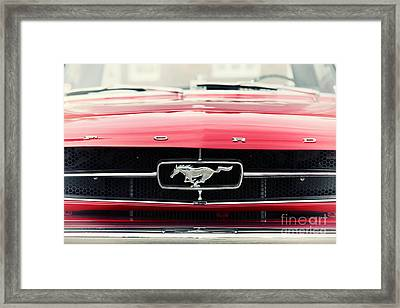 Ford Mustang Framed Print by Tim Gainey