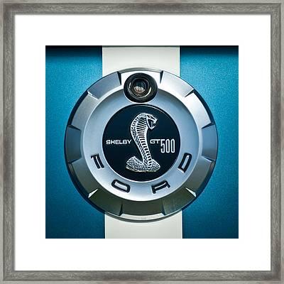 Ford Shelby Gt 500 Cobra Emblem Framed Print by Jill Reger