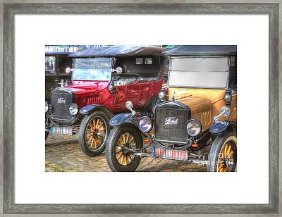Ford-t  Mobiles Of The 20th Framed Print by Heiko Koehrer-Wagner