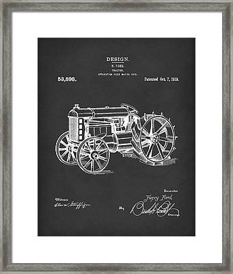 Ford Tractor 1919 Patent Art Black Framed Print by Prior Art Design