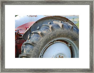 Ford Tractor Framed Print by Jennifer Ancker