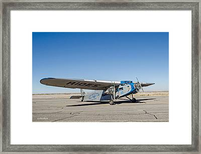 Ford Tri-motor Taxiing Framed Print by Allen Sheffield
