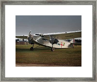 Ford Trimoter Vintage Aircraft Framed Print by Tim Rutz