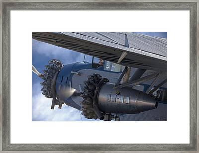 Ford Trimotor Framed Print by Mark Fuge