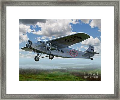 Ford Trimotor Framed Print by Stu Shepherd