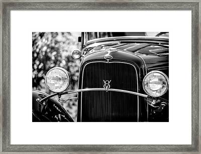 Ford V8 Framed Print by Caitlyn  Grasso