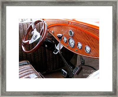 Ford V8 Dashboard Framed Print by Mary Deal