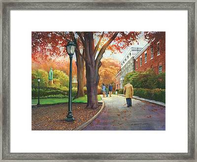 Fordham University Administration Building Framed Print by Marguerite Chadwick-Juner