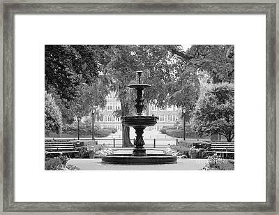 Fordham University Fountain Framed Print by University Icons