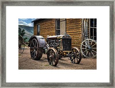 Fordson Tractor Framed Print by Ken Smith