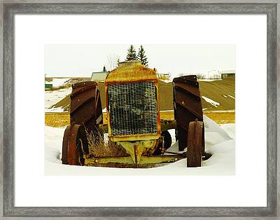 Fordson Tractor Plentywood Montana Framed Print by Jeff Swan