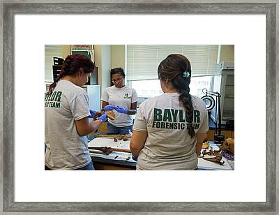 Forensic Scientists Identifying Remains Framed Print by Jim West