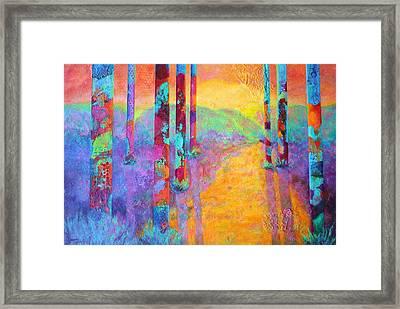Forest Fantasy Framed Print by Nancy Jolley