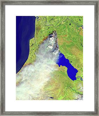 Forest Fire Framed Print by Nasa Earth Observatory