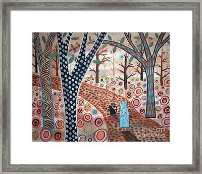 Forest Garden Framed Print by Karla Gerard