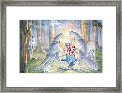 Forest Guardian Framed Print by Sara Burrier
