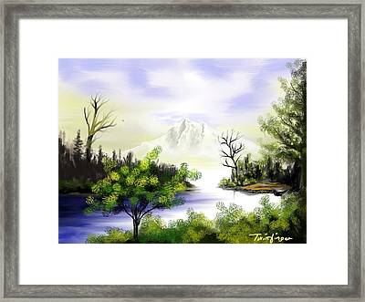 Forest Lake Framed Print by Twinfinger