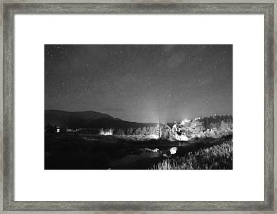 Forest Of Stars Above The Chapel On The Rock Bw Framed Print by James BO  Insogna