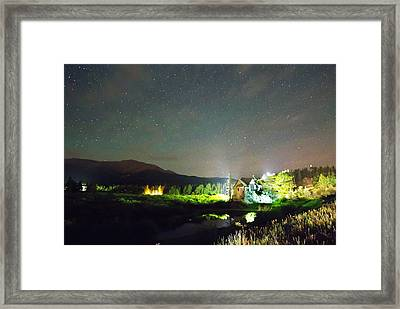 Forest Of Stars Above The Chapel On The Rock Framed Print by James BO  Insogna