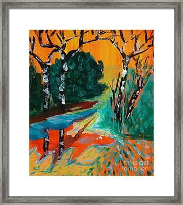 Forest Path Miniature Framed Print by Lidija Ivanek - SiLa