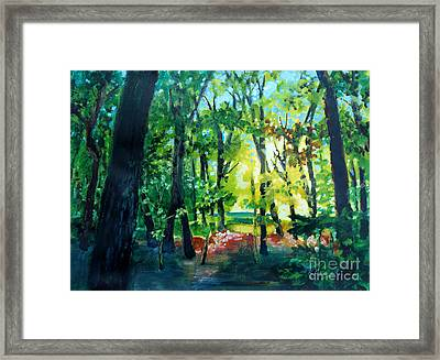 Forest Scene 1 Framed Print by Kathy Braud
