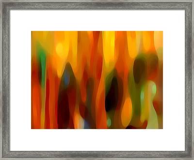 Forest Sunlight Horizontal Framed Print by Amy Vangsgard