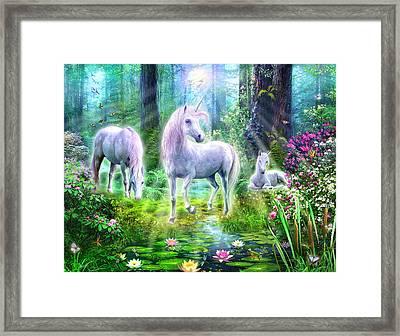 Forest Unicorn Family Framed Print by Jan Patrik Krasny