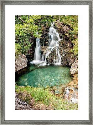 Forest Waterfall Framed Print by Adrian Evans