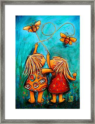 Forever Friends Framed Print by Karin Taylor