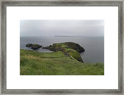 Forever Green Carrick-a-rede Northern Ireland Framed Print by Betsy Knapp