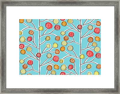 Forever Trees Blue Framed Print by Sharon Turner