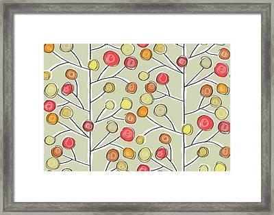 Forever Trees Natural Framed Print by Sharon Turner