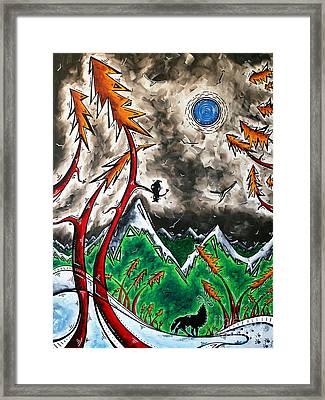 Forever Wild Original Madart Painting Framed Print by Megan Duncanson