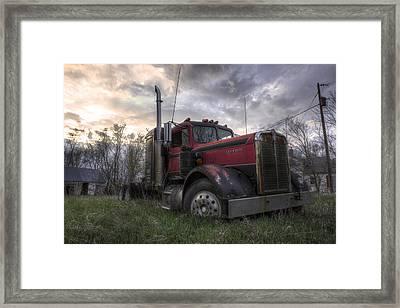 Forgotten Big Rig 2013 Framed Print by Aaron J Groen