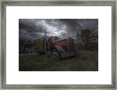 Forgotten Big Rig 2014 Framed Print by Aaron J Groen