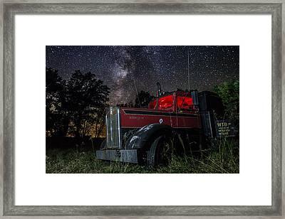 Forgotten Big Rig Night Version Framed Print by Aaron J Groen