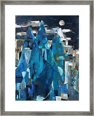 Forgotten Night Framed Print by Becky Kim