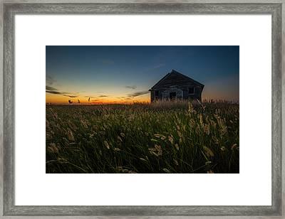 Forgotten On The Prairie Framed Print by Aaron J Groen