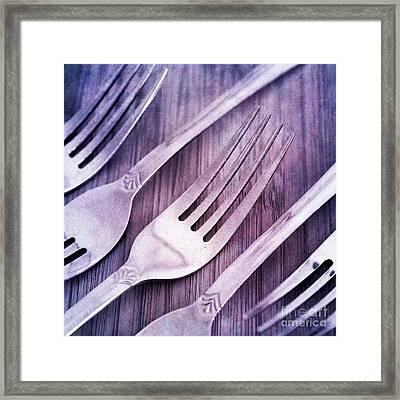 Forks Framed Print by Priska Wettstein