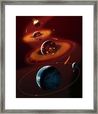 Formation Of The Moon Framed Print by Mark Garlick