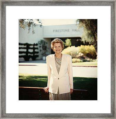 Former First Lady Betty Ford Posing Framed Print by Everett