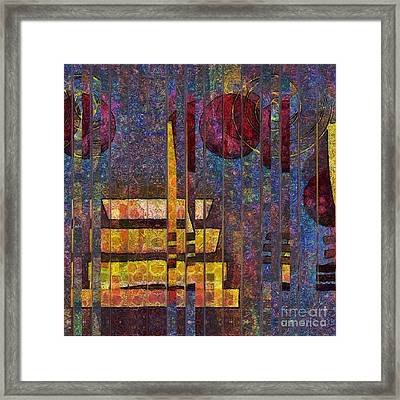 Formes - 0101pkrdb Framed Print by Variance Collections