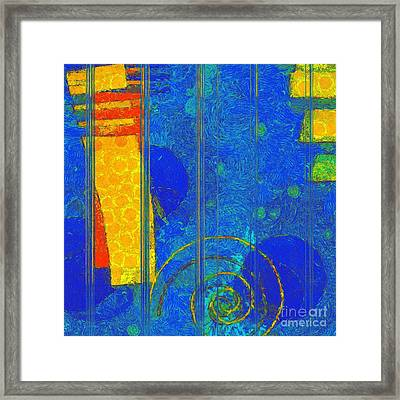 Formes - A0201blylgr Framed Print by Variance Collections