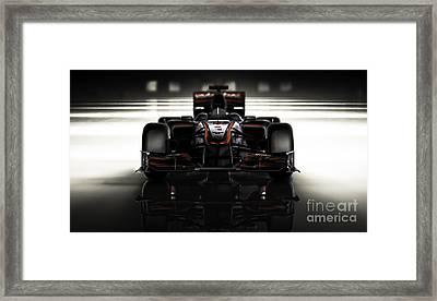 Formula 1 Face Framed Print by Marshall Bishop