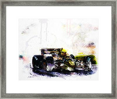 Formula 1 John Player Special Framed Print by Gary Bodnar